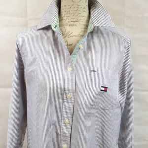 Tommy Hilfiger Striped Button Front Blouse